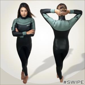 日本製のレディースブランド SWIPEウェットスーツ。   女性のボディラインを美しく見せるスタイリ...