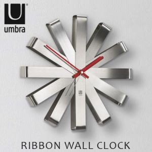 アンブラ リボンウォールクロック umbra RIBBON WALL CLOCK 送料無料 あすつく対応|plywood