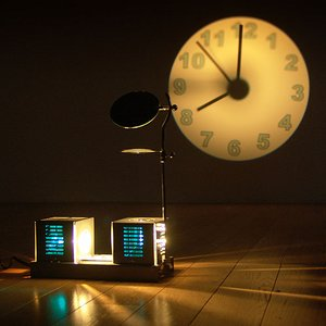 送料無料★ Projector Clock プロジェクタークロック|plywood
