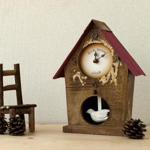 【送料無料】 La Luz ラ・ルース BIRD HOUSE CLOCK アンティーク バードハウスクロック [ 置き型 アンティーク 時計 掛け置き兼用 ]|plywood