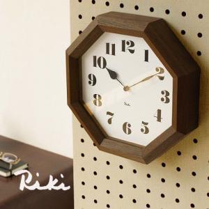 時計 壁掛け 掛け時計 riki watanabe 八角の時計 WR11-01 lemnos レムノス 時計 送料無料|plywood