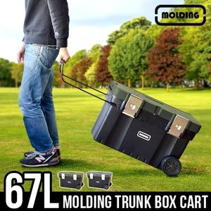 収納ボックス フタ付き おしゃれ 大型 molding トランクボックスカート ウィズ キャスター|plywood