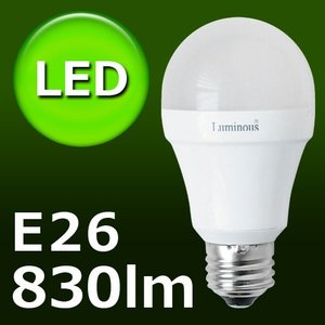 Luminous LED ドウシシャ ≪ E26/826lm ≫ 60W相当 [電球色 CM-A60GL]  あすつく対応|plywood