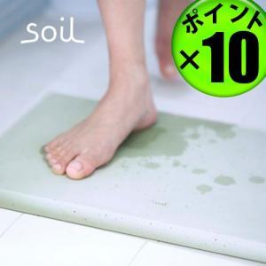 バスマット 珪藻土 日本製 soil BATH MAT ソイル ポイント10倍 特典付き|plywood