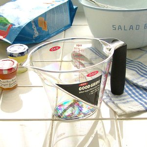 【OXO】 Angled Measuring Cup オクソー アングルドメジャーカップ [M/500cc]|plywood
