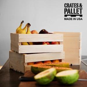 木箱 収納ボックス 収納 アンティーク クレート&パレット スモール クレート [CP-69010]|plywood
