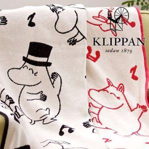 【送料無料】 KLIPPAN コットン ハーフブランケット 《 ダンシング ムーミン 》 90×140|plywood