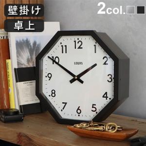 時計 壁掛け 置き時計 アンティーク おしゃれ LOWIS INDUSTRY OCTAGON CLOCK P10倍|plywood