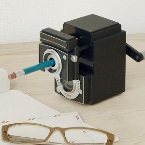 鉛筆削り 手動 卓上 キッカーランド カメラ ペンシル シャープナー|plywood