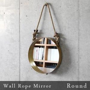 鏡 ミラー ウォールロープミラー [ラウンド] Wall Rope Mirror Round あすつく対応 送料無料|plywood