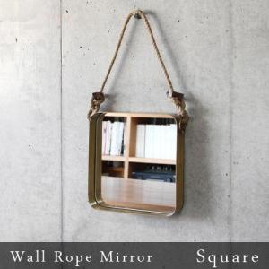 鏡 ミラー ウォールロープミラー [スクエア] Wall Rope Mirror Square あすつく対応 送料無料|plywood
