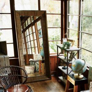 鏡 アンティーク ミラー 姿見 CedarWood Vintage Mirror シダーウッド ヴィンテージ ミラー Lサイズ 送料無料(北海道・沖縄・離島除く) 32%OFF メーカー直送|plywood