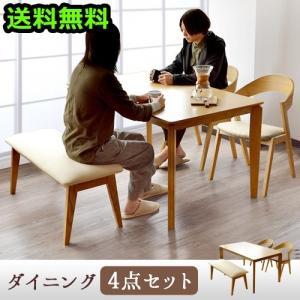 Feliz エクステンションテーブル 4点セット ダイニングテーブル No.18(ナチュラル オーク)1卓+チェアNo.12 2脚+ベンチNo.14 1脚|plywood