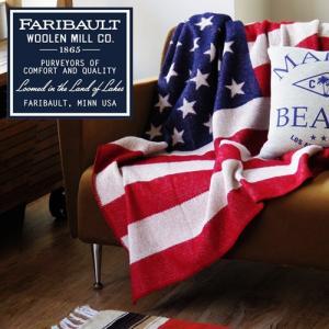 ブランケット ひざ掛け アメリカ Faribault Woolen Mill American Flag 送料無料|plywood
