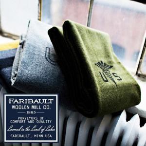 ブランケット ひざ掛け アメリカ Faribault Woolen Mill Army Medic / US Navy Gray 送料無料|plywood