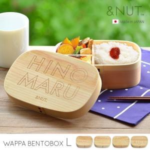 わっぱ 弁当箱 お弁当箱 まげわっぱ & NUT WAPPA BENTOBOX Lサイズ|plywood