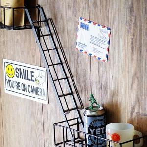 ウォールシェルフ 壁収納棚 収納棚 ファイヤーエスケープ ステアーズ FIRE ESCAPE Stairs|plywood