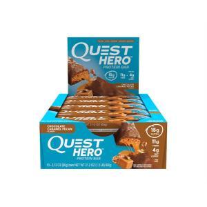 クエスト ヒーロー プロテインバー  12本入り チョコレートキャラメルピーカン  QUEST