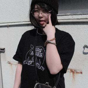 先行予約▼/ファンキーフルーツオリジナル 世界征服少女刺繍デザインオーバーサイズTシャツ/1枚のみメール便可能/ttp1551-4/07n|pmcorporation