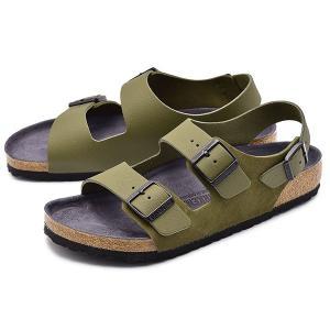【ビルケンシュトック】 1011399 ミラノ サンダル コンフォート 靴 カーキ メンズ&...