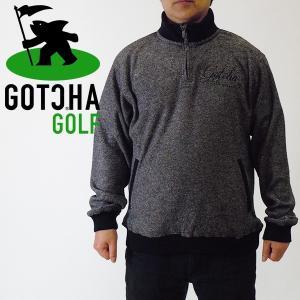 ガチャゴルフ/フリースハーフジップ/ブラック/GOTCHAGOLF/173GG1304-09|pmsports