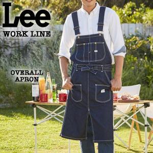 Lee WORK LINE オーバーオールエプロン インディゴブルー [LS2023-00]|pmsports