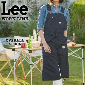 Lee WORK LINE オーバーオールエプロン ネイビー [LS2023-104]|pmsports