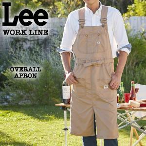 Lee WORK LINE オーバーオールエプロン ベージュ [LS2023-116]|pmsports