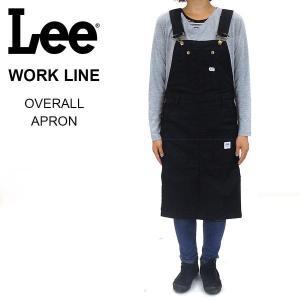 Lee WORK LINE オーバーオールエプロン ブラック [LS2023-175]|pmsports