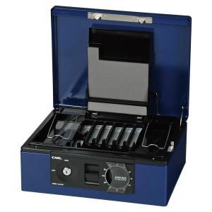 カール事務器 キャッシュボックス ブルー CB8760B手提げ金庫/送料無料