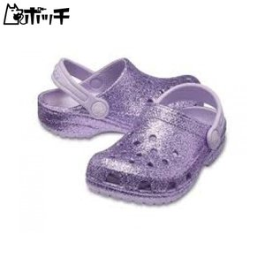 クロックス サンダル クラシック グリッター クロッグ 205441-530 Lavender crocs キッズ pocchi-shop