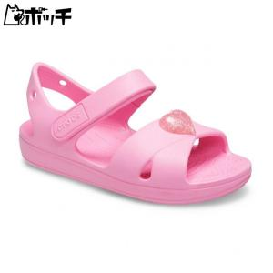 クロックス クラシック クロックス ストラップ サンダル PS ガールズ 206245-669 ピンク レモネード crocs キッズ pocchi-shop