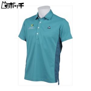 le coq sportif ルコックスポルティフゴルフ/GOLF COLLECTION 半袖シャツ メンズ EM00(エメラルド) QGMLJA26|pocchi-shop