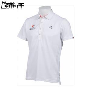 クーポンで30%OFF le coq sportif ルコックスポルティフ ゴルフ GOLF COLLECTION 半袖シャツ メンズ  ホワイト QGMLJA26 WH00|pocchi-shop