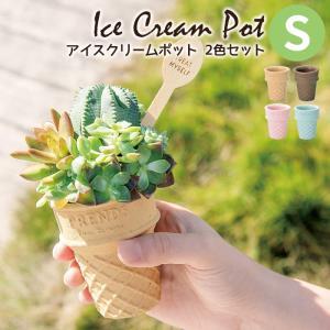 植え込んだお花や多肉植物がアイスクリームのように見える、ユニークな器です。 Prends ton t...