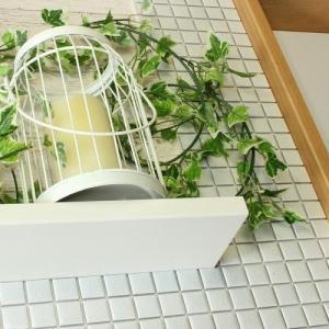 モザイクタイルステッカー ハルちゃん ピンキー 25×25mm角(15×15cmシート) ホワイト|pocchione-kabegami