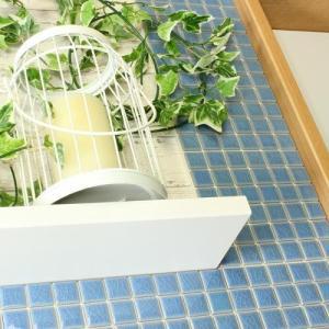 モザイクタイルステッカー ハルちゃん ピンキー 25×25mm角(15×15cmシート) ライトブルー|pocchione-kabegami