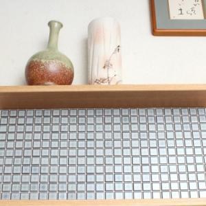 モザイクタイルステッカー ハルちゃん 和(なごみ) 25角(15×15cmシート) 空色(そらいろ)|pocchione-kabegami