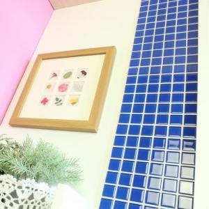 モザイクタイルステッカー ハルちゃん ガラス 25角(15×15cmシート) ブルー|pocchione-kabegami