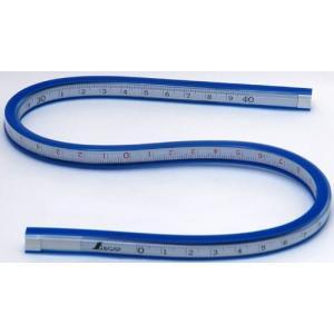 シンワ測定 自在曲線定規 40cm 目盛付 74845 (メール便対応・2個まで)|pocchione-kabegami