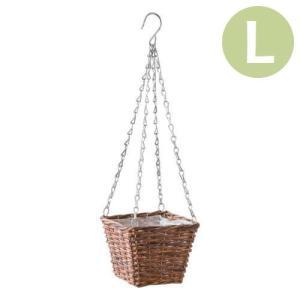 植木鉢 吊り下げポット ハンギングバスケット スクエアL 11615