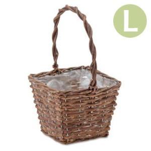 植木鉢 かご ガーデンバスケット スクエアL 11605