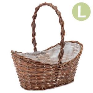 植木鉢 かご ガーデンバスケット オーバルL 11608