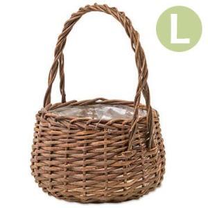 植木鉢 かご ガーデンバスケット ラウンドL 11657