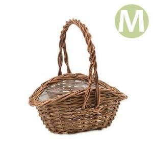 植木鉢 かご ガーデンバスケット ウェーブM 11659