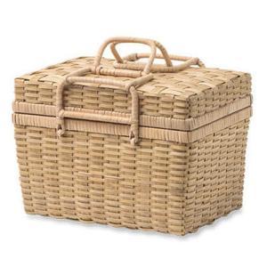 裁縫箱 かご 収納ボックス ソーイングバスケット 11669