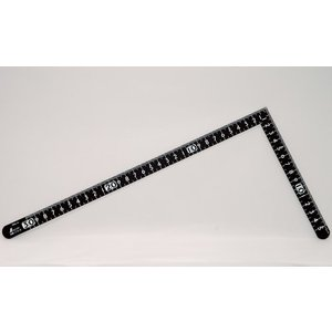 シンワ測定 曲尺小型 サンデーカーペンター 黒色 30×15cm 裏面角目 白目盛 12416