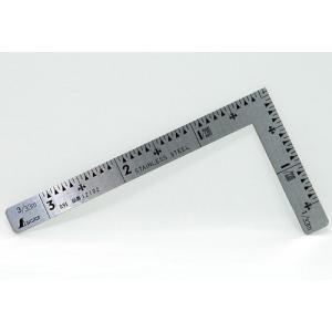 シンワ測定 曲尺小型三寸法師ステン3×1.5寸 表裏同目 12102 (メール便対応・4個まで)