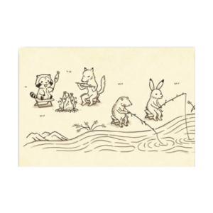 ラスカル ポストカード(鳥獣戯画ラスカル 釣り)RA-PT031 キャラクター グッズ メール便OK|poccl