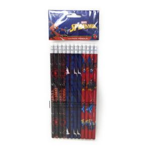 スパイダーマン 鉛筆12本セット 0077764690013 キャラクター グッズ メール便OK